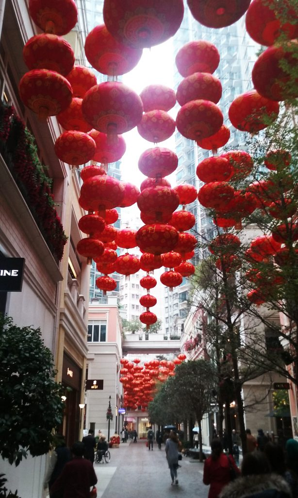 Go encounter photo of red lanterns in Chinese alley