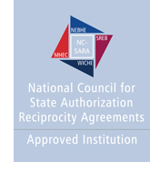 Logo of National Council for State Authorization Reciprocity Agreements - Approved Institution