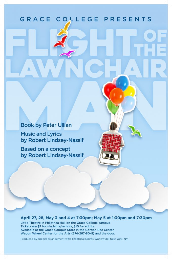 Flight of the Lawnchair Man play poster