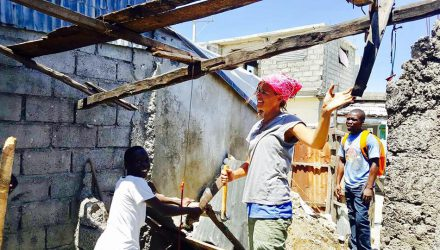 People working in Haiti