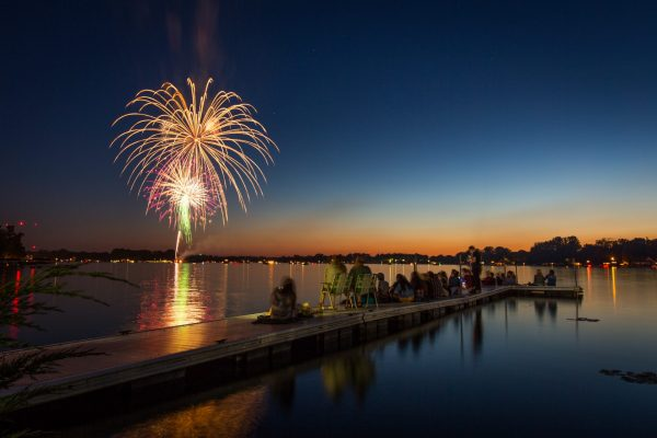Symphony of the lakes fireworks concert